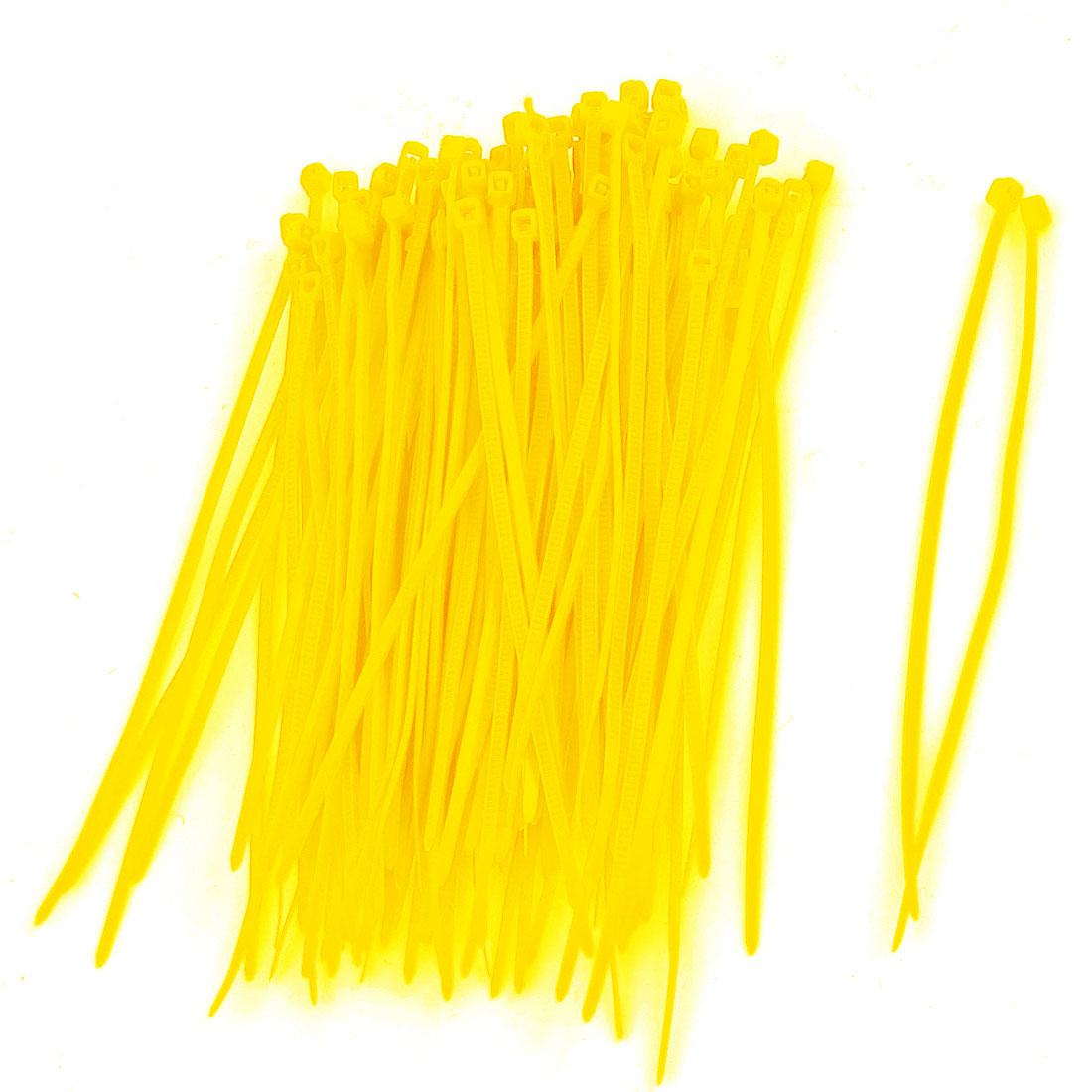 100 Pcs Flexible Plastic Cable Zip Tie Fasten Wrap Yellow 3 x 100mm