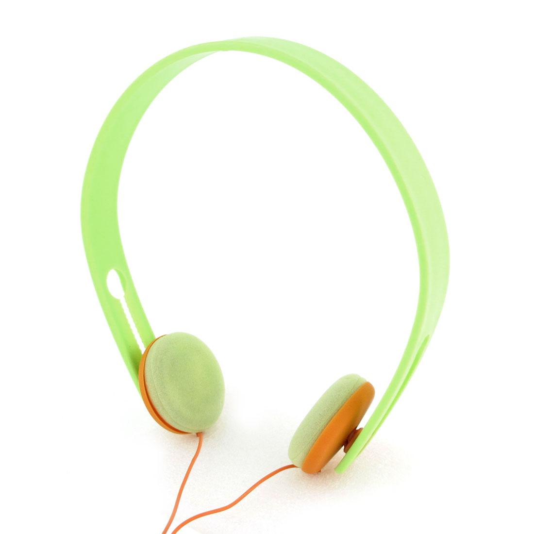 Green Orange 3.5mm Plug Bass Headset Headphone Earphone for Laptop PC