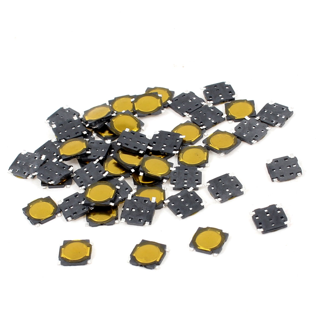 50 Pcs 4.5x4.5x0.5mm 4 Pins Momentary Push Button SMD SMT Tactile Tact Switch