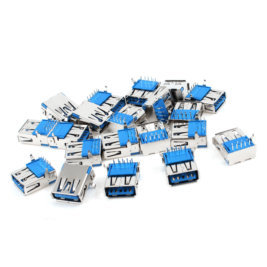 20 Pcs USB 3.0 Type A Female Right Angle 9-Pin DIP Jack Socket