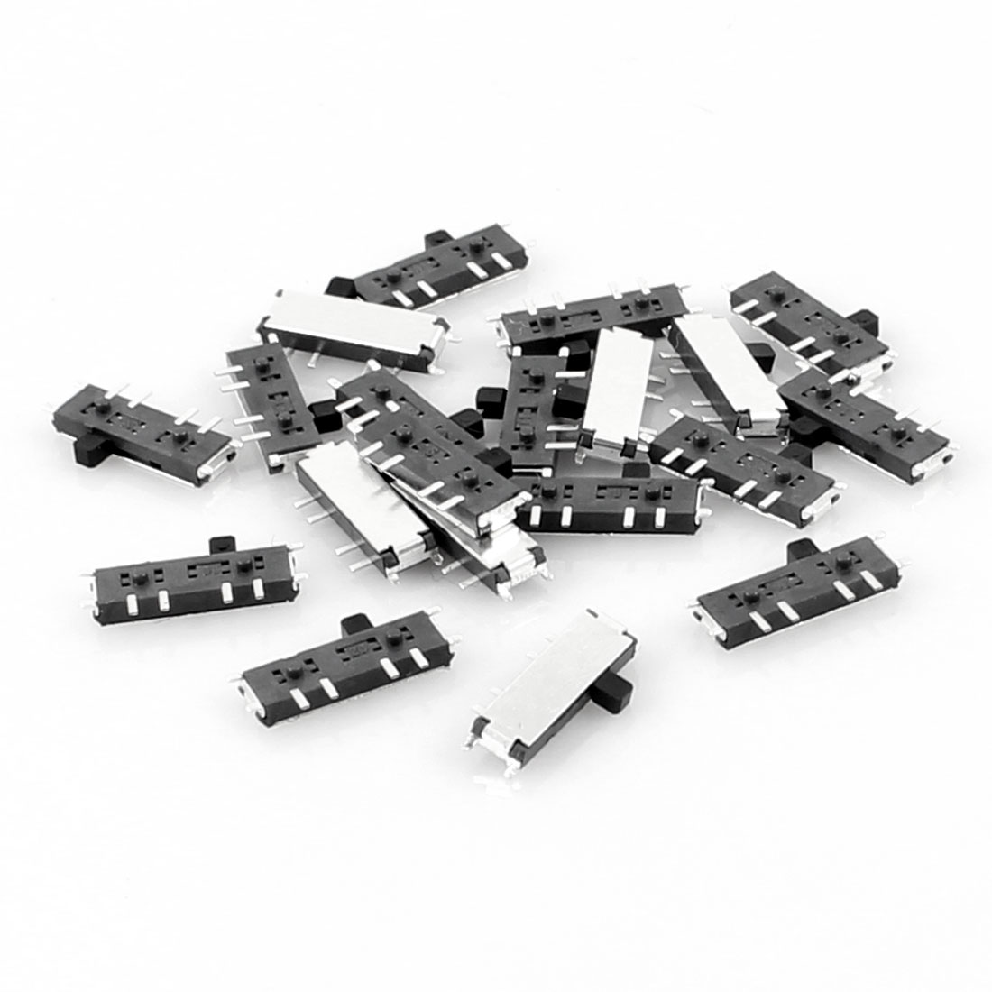 20 Pcs On/Off/On 8 Pin 2P2T DPDT Mini SMD SMT Slide Switch 10mm x 3mm