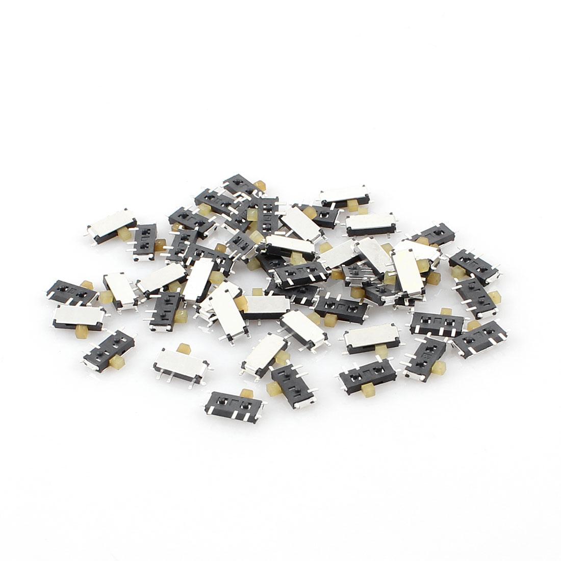 50 Pcs On/Off 2 Position 7-Pin SPDT Mini SMD SMT Slide Switch 7mm x 3mm