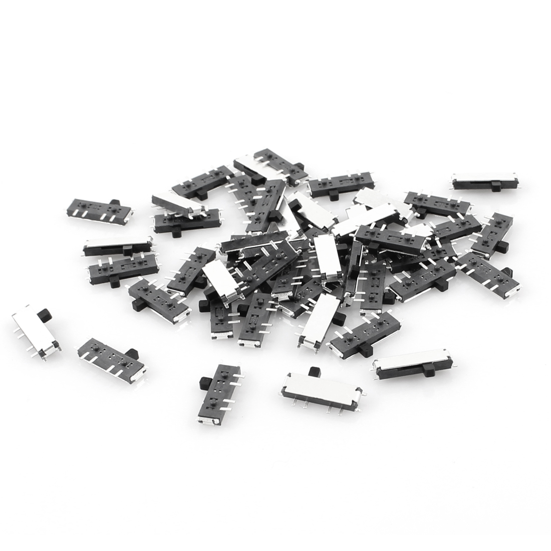 50 Pcs On/Off/On 3-Position 8 Pin DPDT Mini SMD SMT Slide Switch 10mm x 3mm