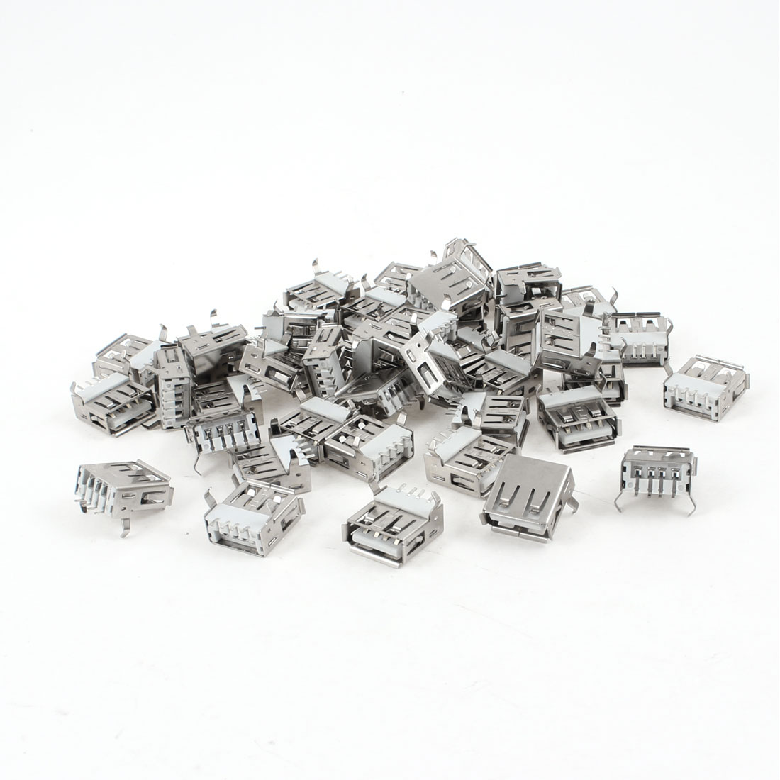 50 Pcs Shielded USB Type A 180 Degree 4-Pin SMD Female Jack Socket