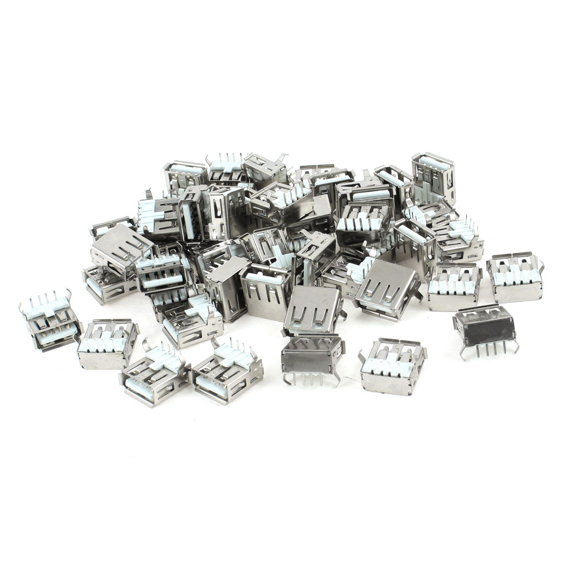 50 Pcs USB Type A Right Angle 4-Pin DIP Female Jack Socket Connector