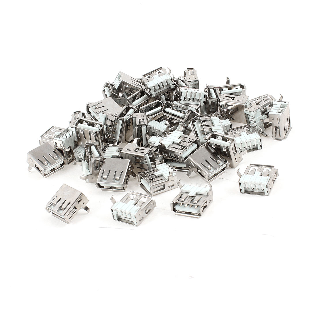 50 Pcs USB 2.0 Type A Right Angle 4-Pin SMD Female Jack Connector