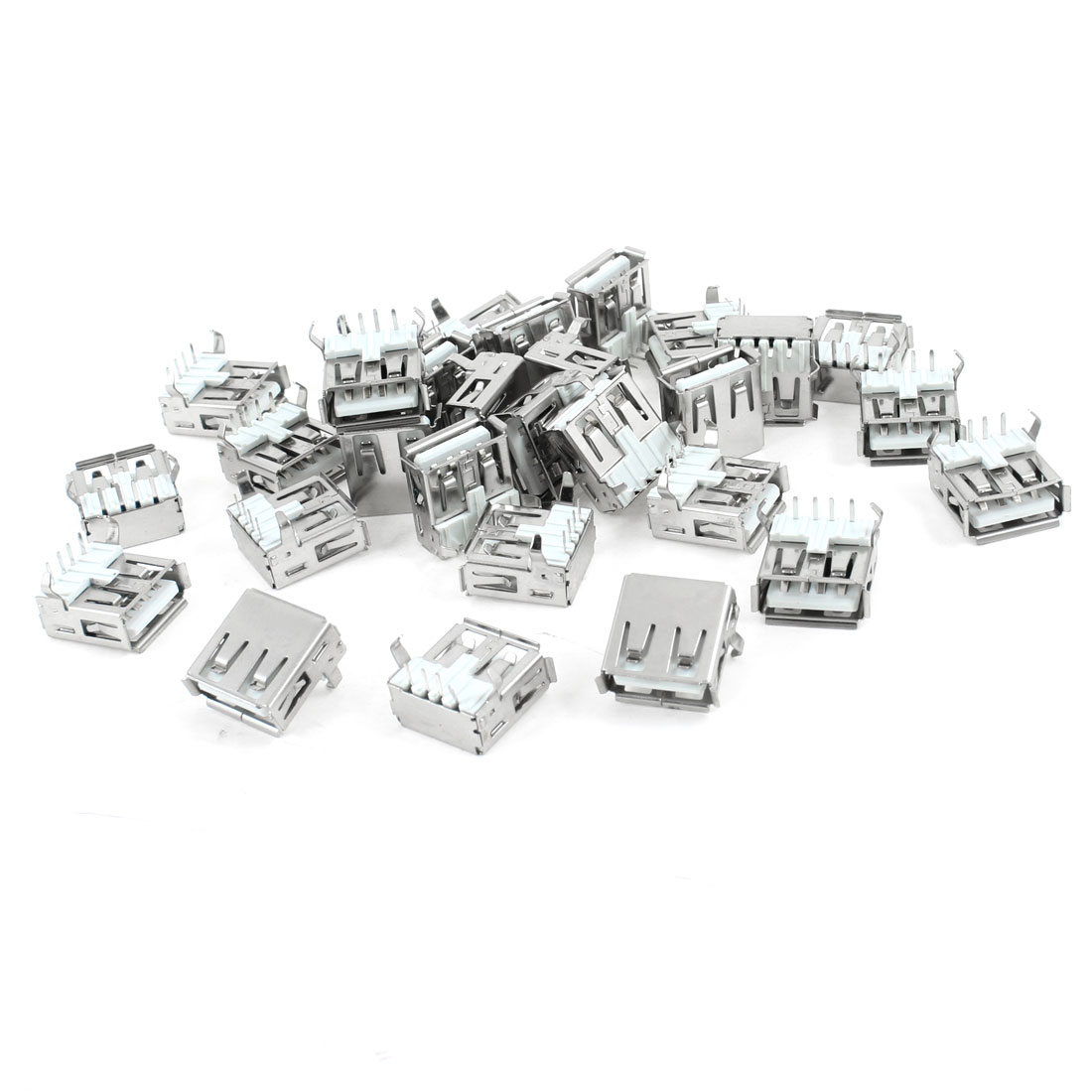 30 Pcs Single USB 2.0 Type A Right Angle 4-Pin DIP Female Jack Socket