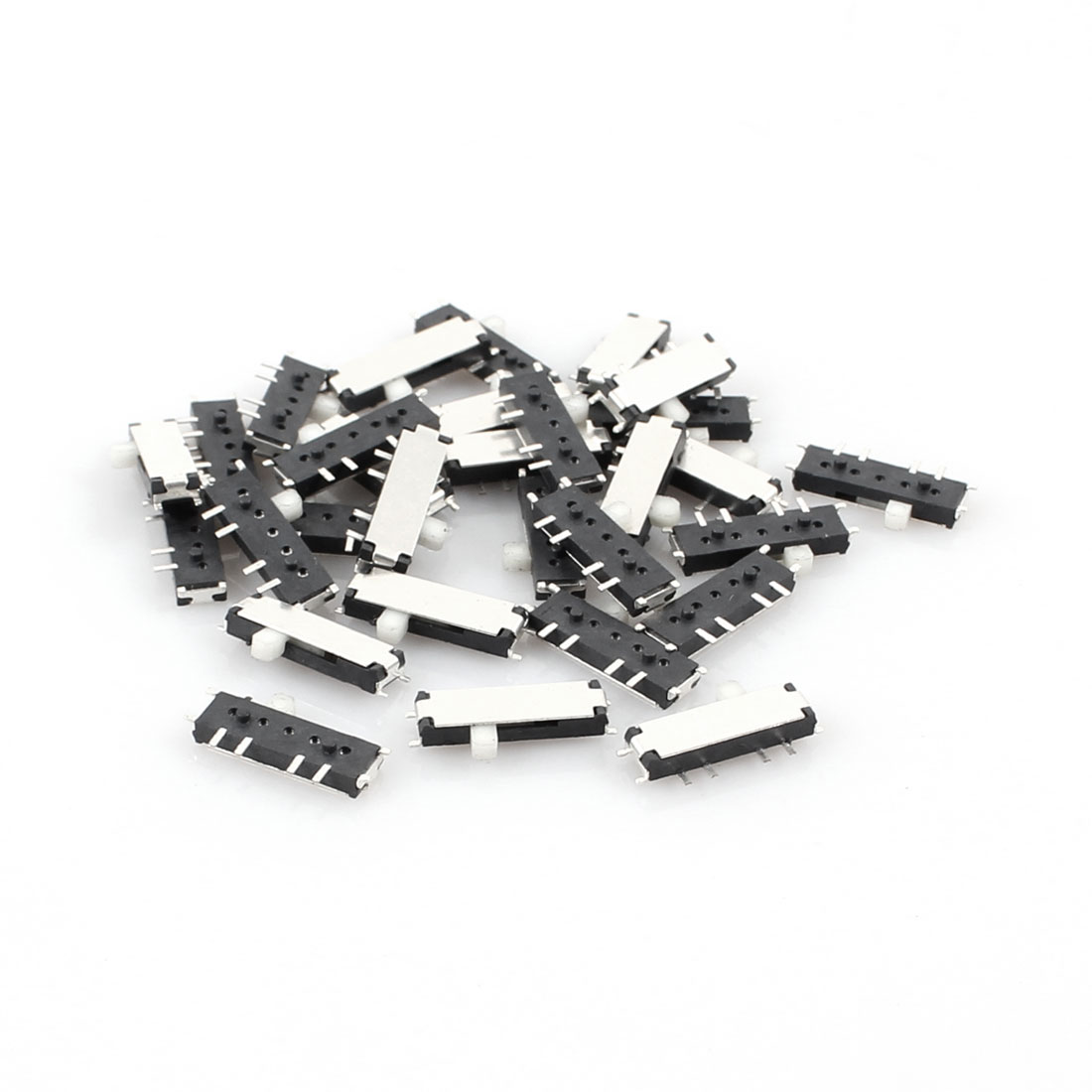 30 Pcs On/Off/On 8 Pin 2P2T DPDT Horizontal Mini SMD SMT Slide Switch 10mm x 3mm