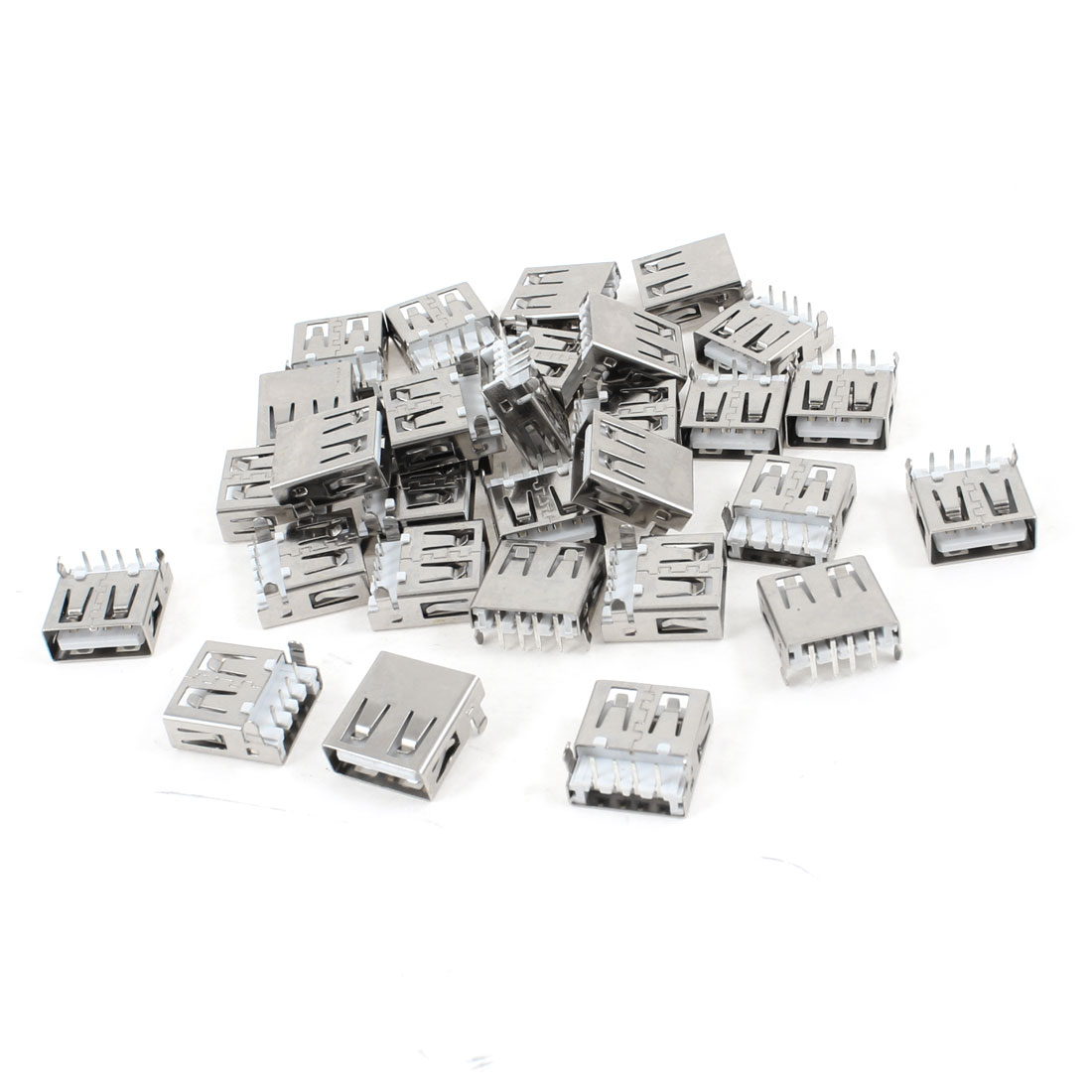 30 Pcs USB 2.0 A Female Jack Connector Right Angle 4-Pin DIP Type