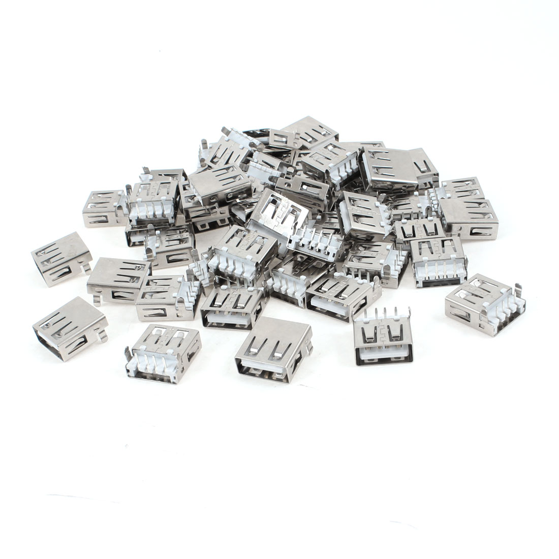 50 Pcs USB 2.0 Type A Right Angle 4-Pin DIP Female Jack Connector