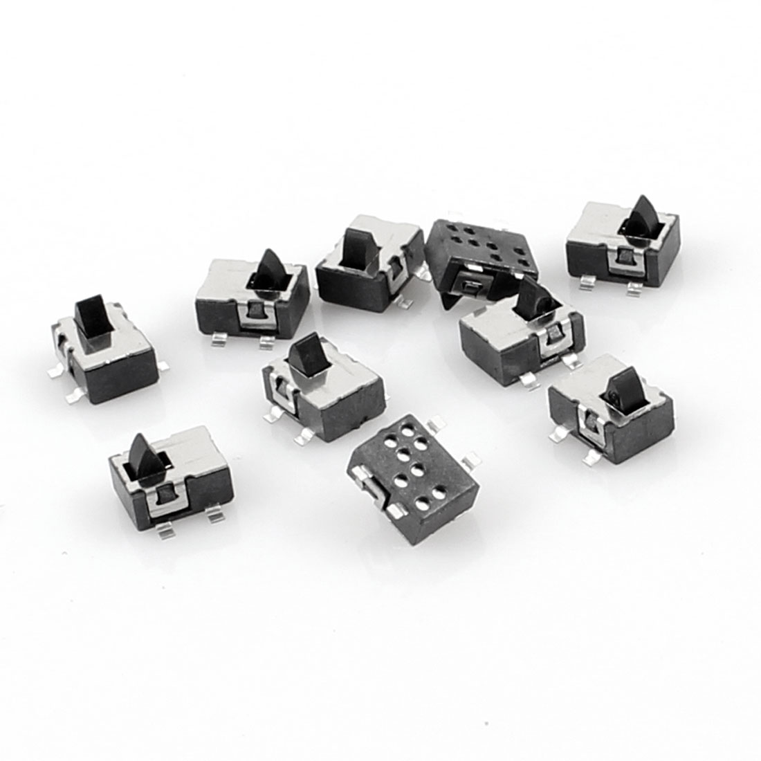 10 Pcs 4.8x3.8mm 4 Pin SPST Momentary Mini SMD SMT Tactile Tact Switch