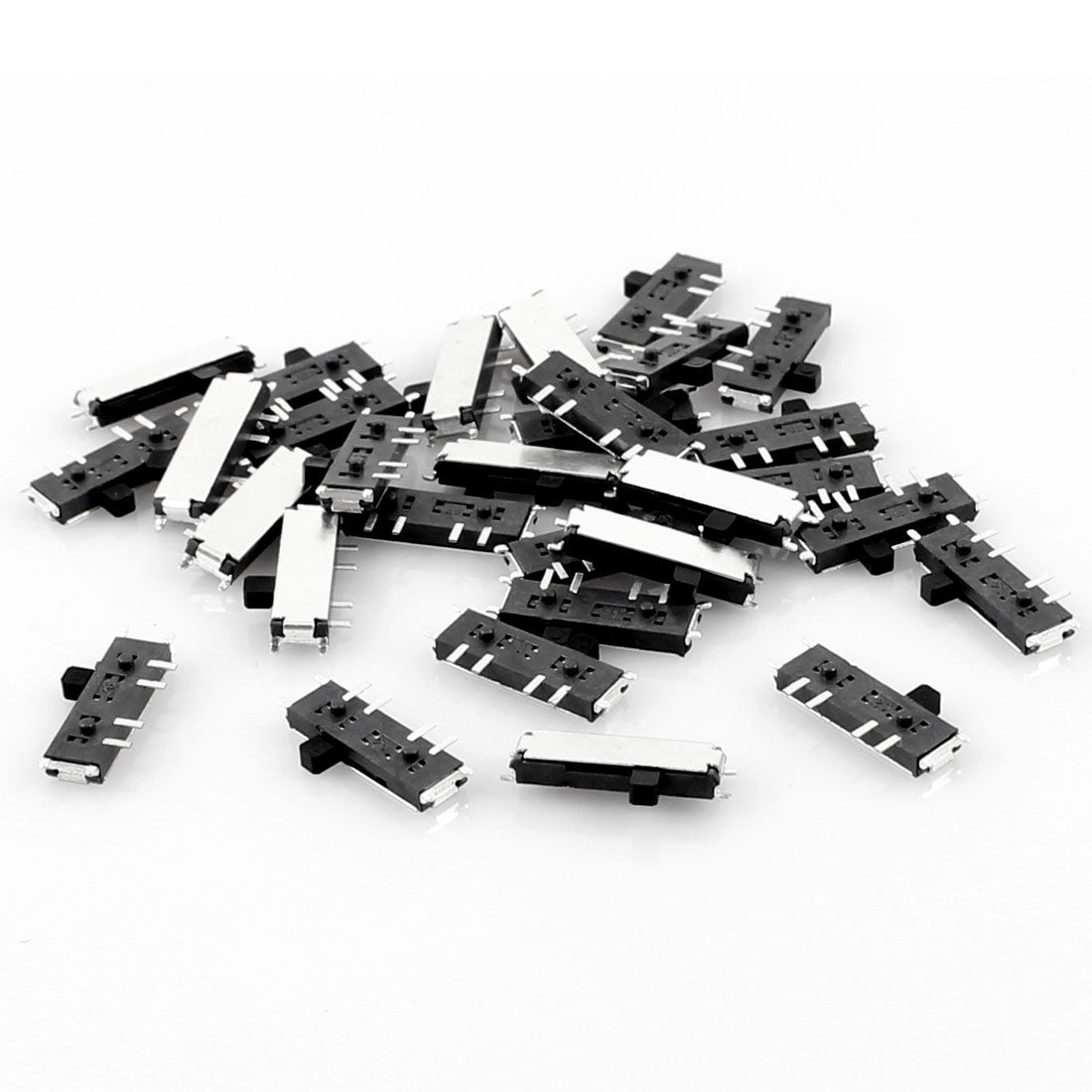 30 Pcs On/Off/On 8 Pin 2P2T DPDT Miniature SMD SMT Slide Switch 10mm x 3mm