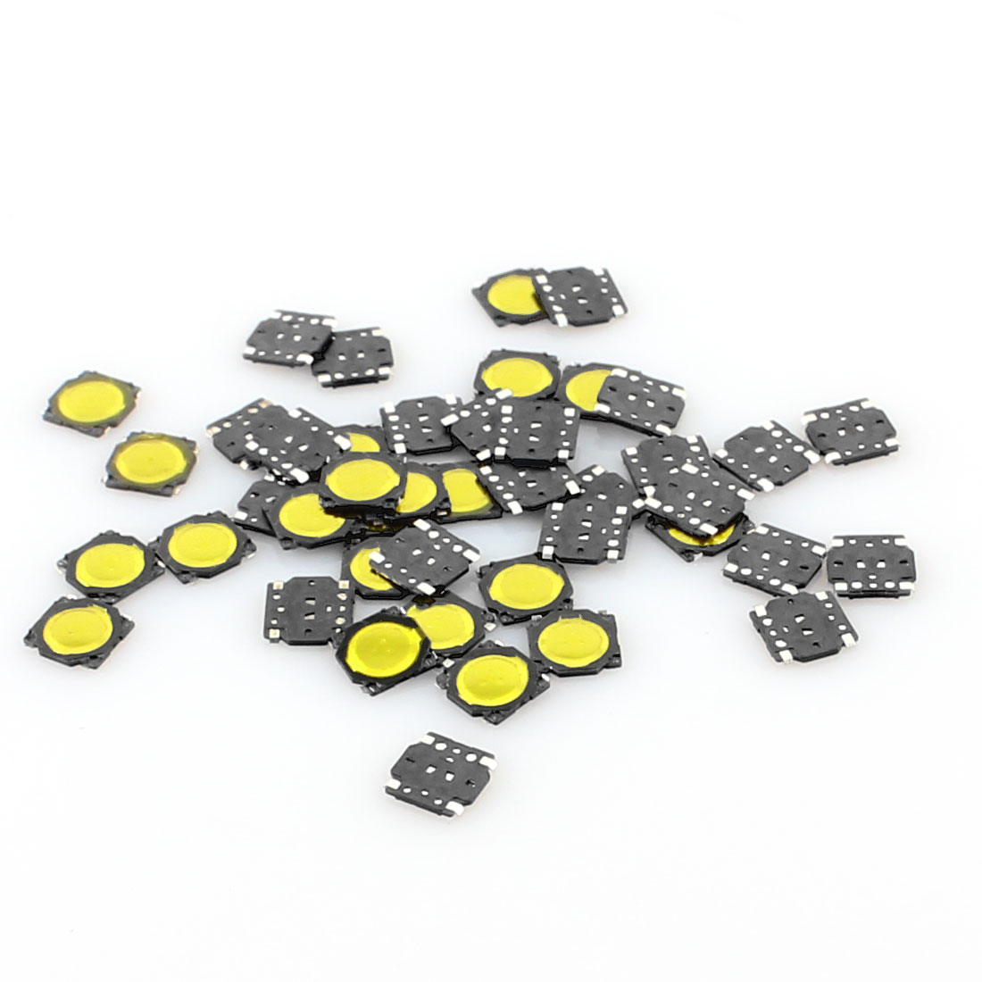 50 Pcs 3.7x3.7x0.35mm 4 Pins Momentary Push Button SMD SMT Tactile Tact Switch