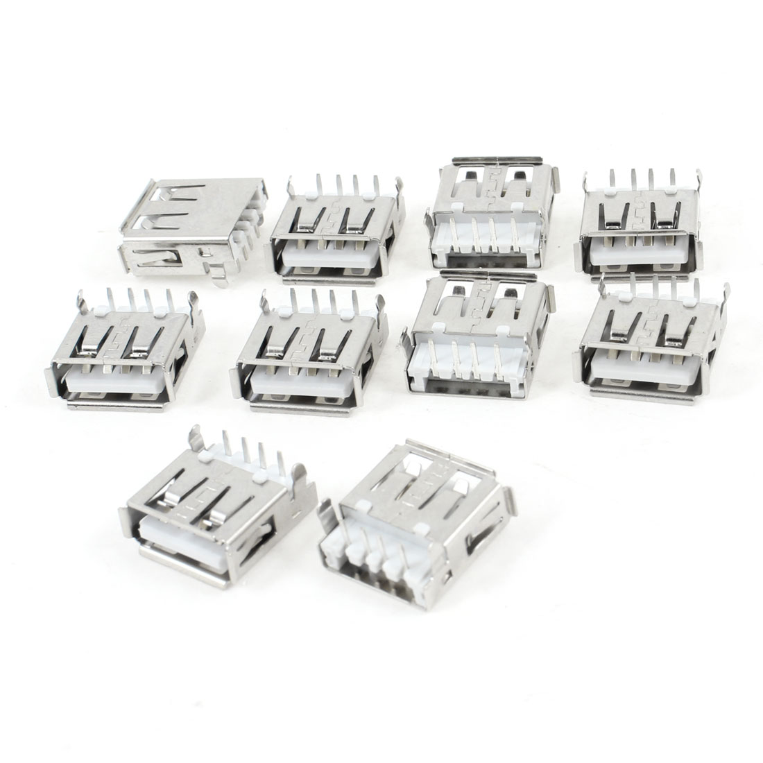 10 Pcs USB 2.0 Type A Right Angle 4-Pin DIP Female Jack Socket