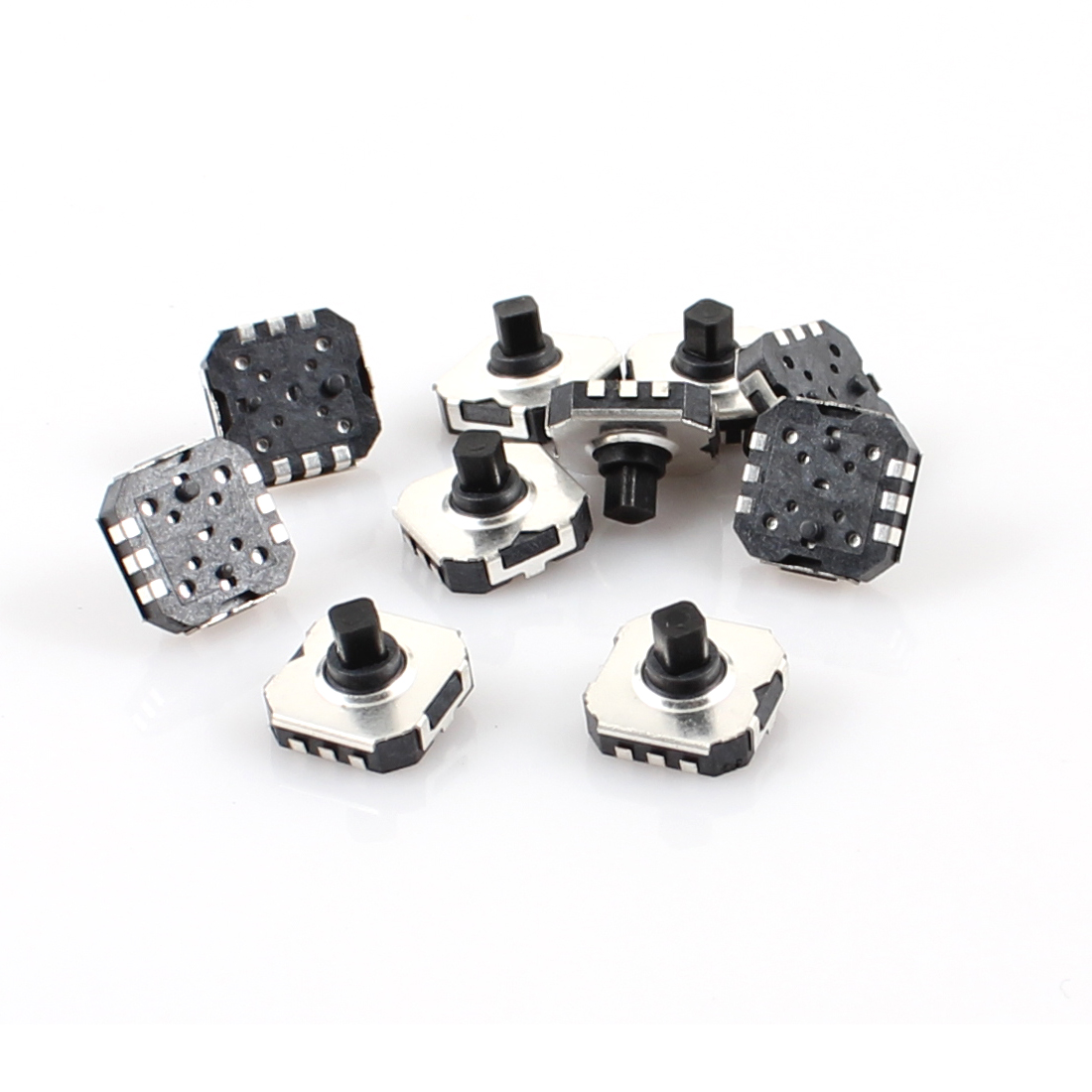 10 Pcs 7mm x 7mm 6 Pin 5 Directions Momentary SMD SMT Tactile Tact Switch