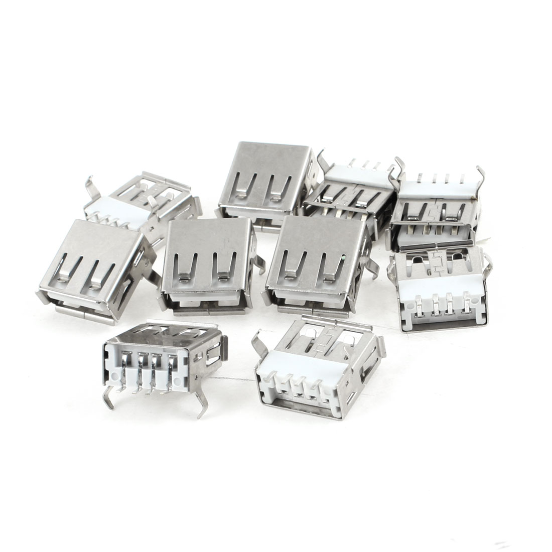 10 Pcs USB 2.0 Type A Right Angle 4-Pin SMT Female Jack Socket