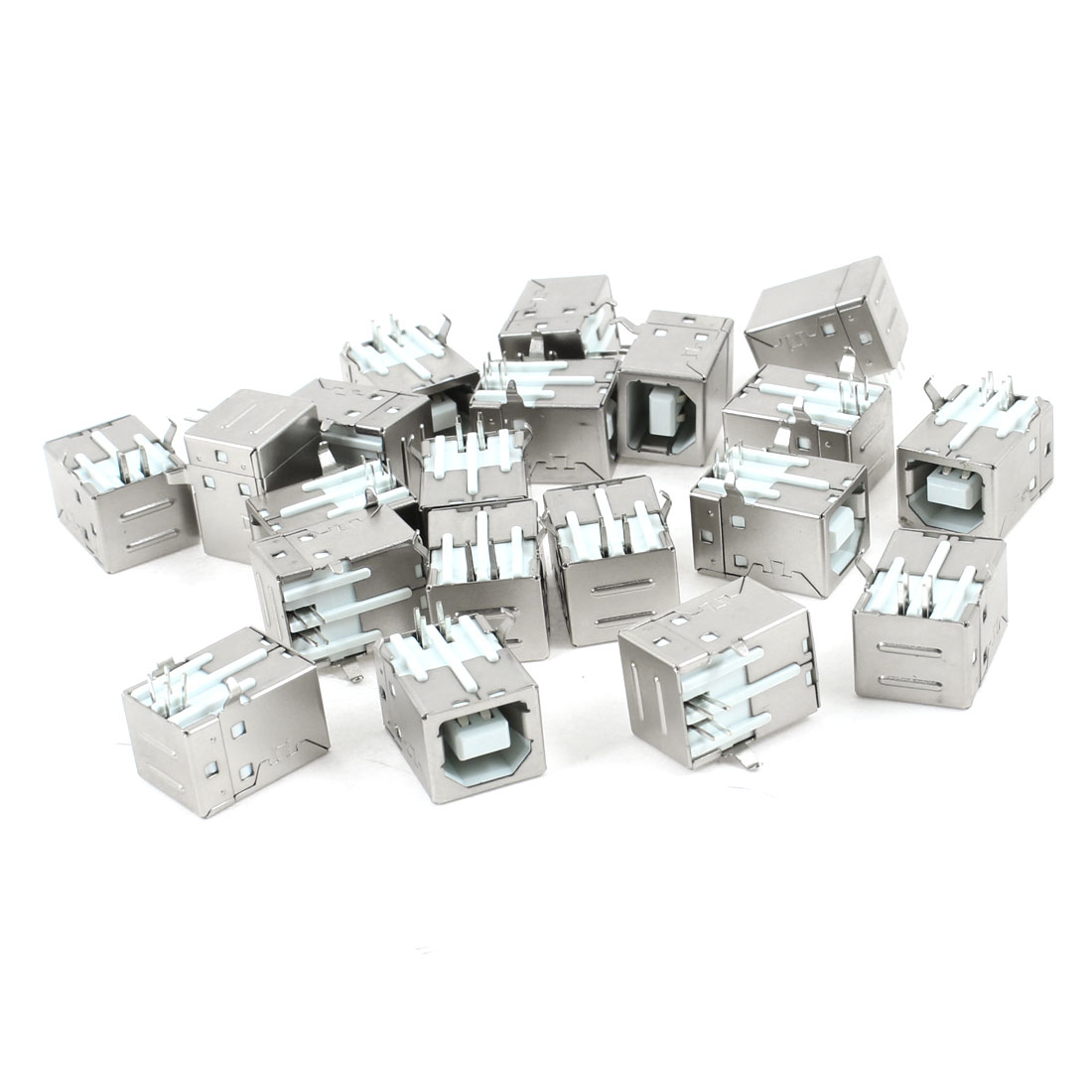 20 Pcs Shielded Right Angle 4 Pin USB 2.0 Type B Female Jack Socket