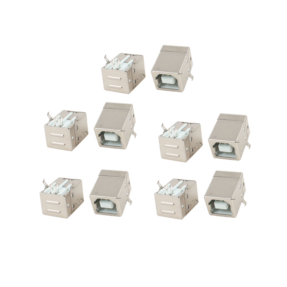 10 Pcs PCB Mount 90 Degree 4 Pin USB 2.0 Type B Female Jack Socket