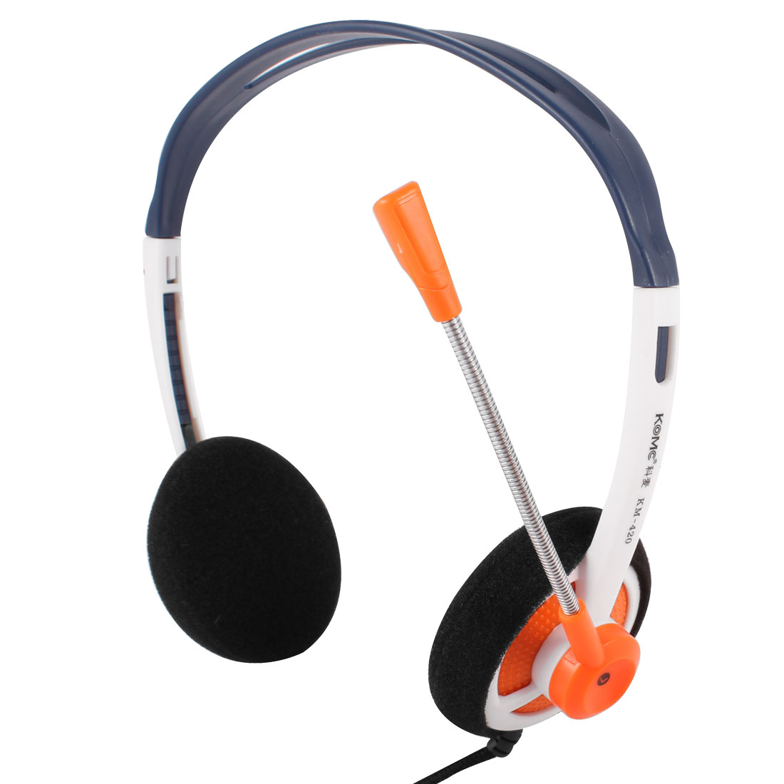 Tri Color Rotatable Microphone PC Computer Headphone Headset 3.5mm Plug