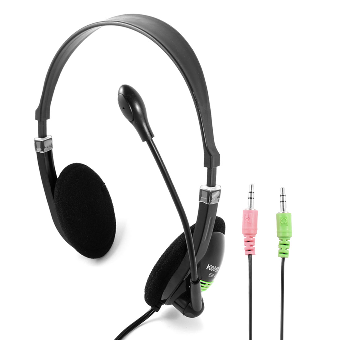 "70"" Cord 3.5mm Plug Stereo Headphone Headset w Microphone for PC Computer DVD"