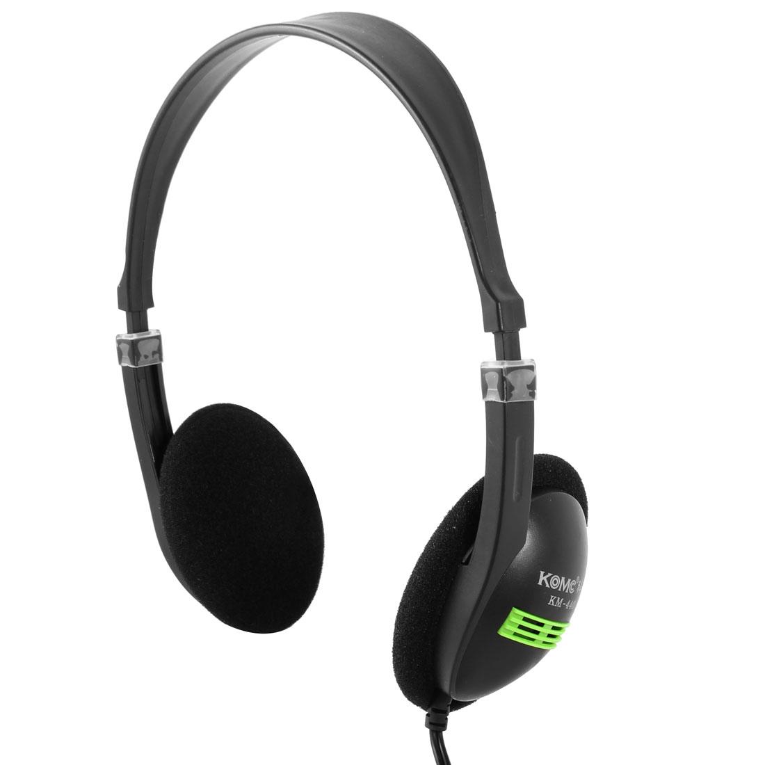 PC Computer 5.7ft Cable 3.5mm Plug Earphone Headphone Headset w Microphone