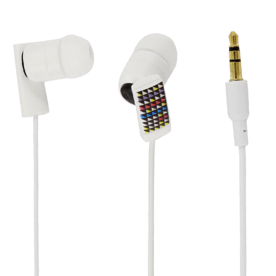 119cm 3.9ft Cable 3.5mm In Ear Headset Earphone White for MP4 PC Computer