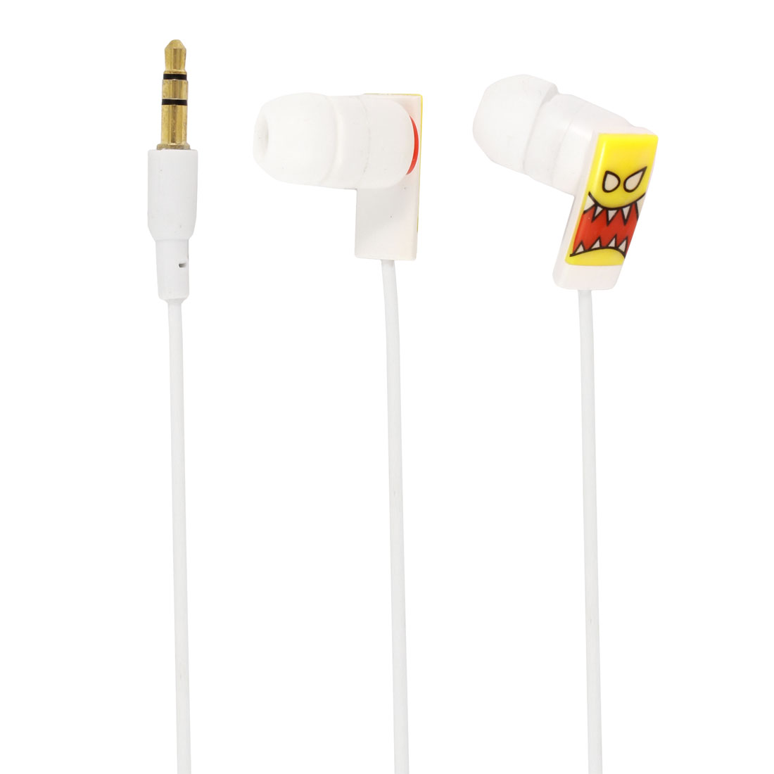 3.5mm Plug In-ear Headphone Earphone 119cm 3.9ft Cable White for Laptop Mp4