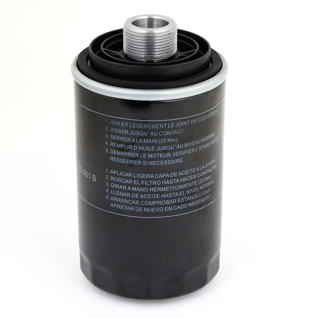 Black Cylinder Shaped Car Auto Alloy Oil Filter Assembly 06J115403C