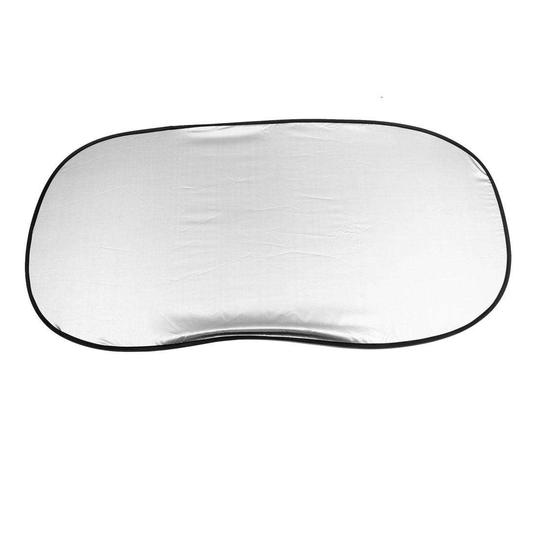 100cm x 50cm Silver Gray Polyester Rear Window Sun Shade for Car Automobile