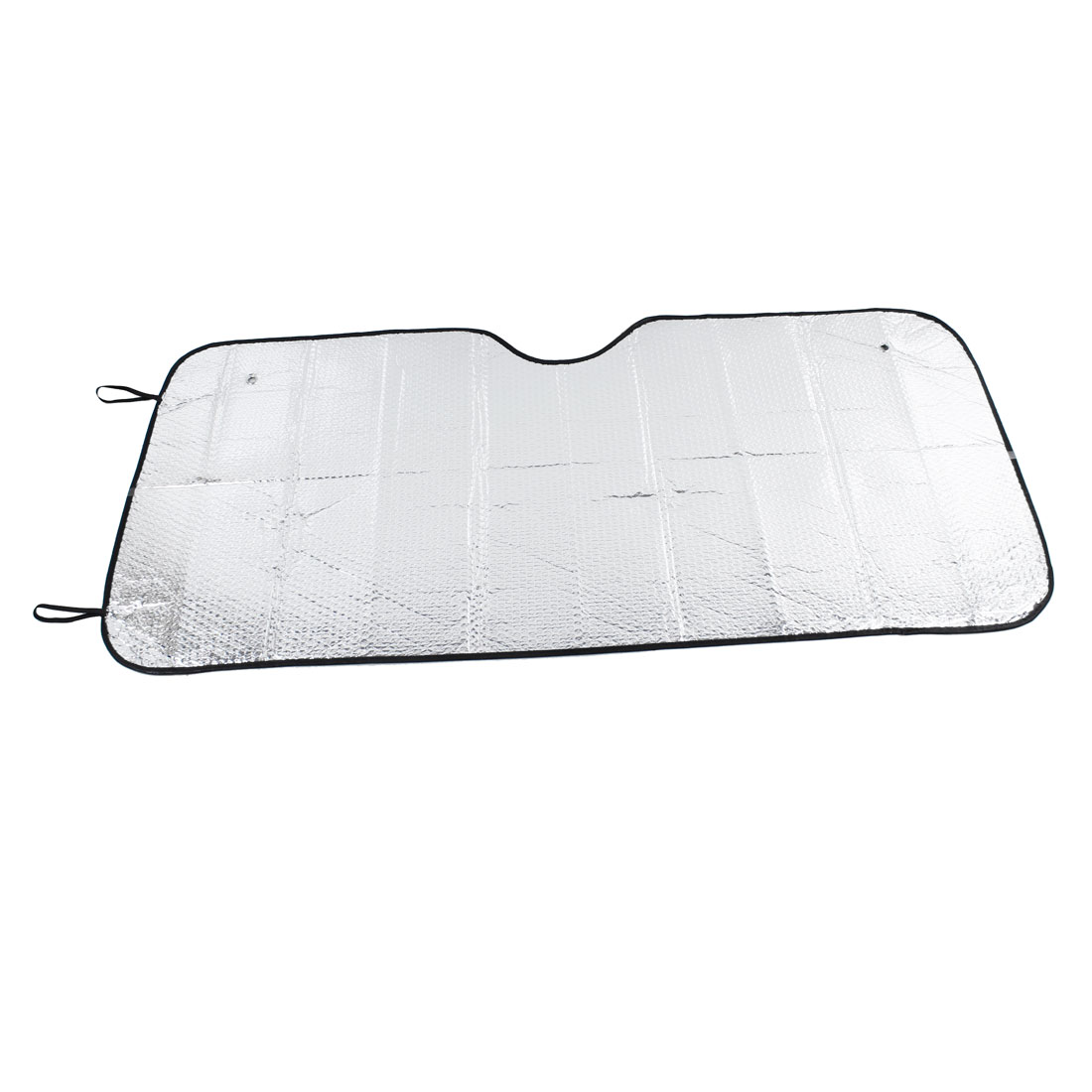 Foldable Silver Tone Aluminium Foil Exterior Car Side Sunshade Sun Visor Shield