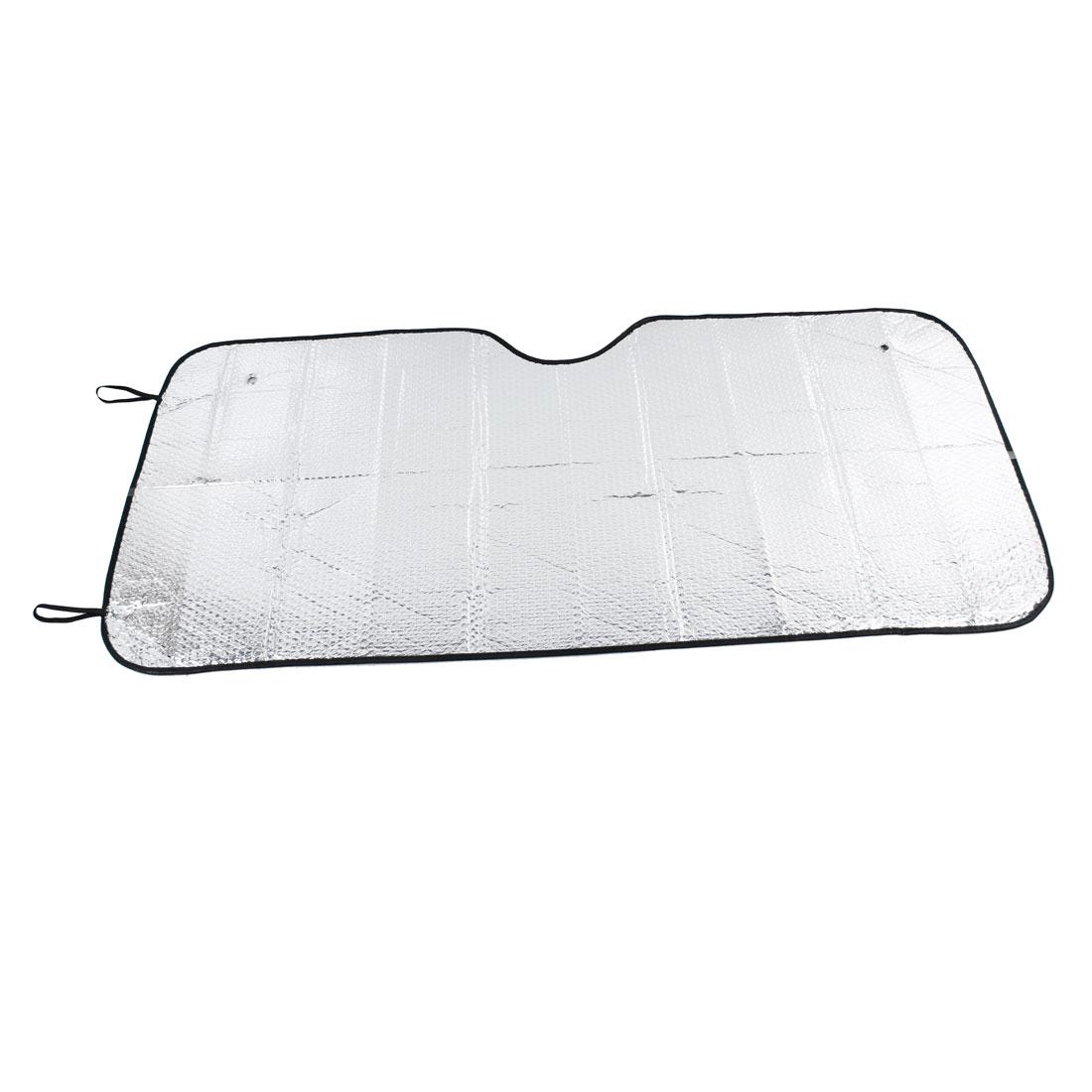 Foldable Silver Tone Aluminium Foil Exterior Car Side Sunshade Sun Visor Shield