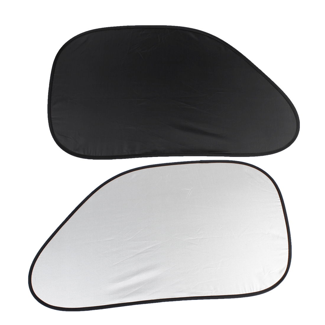 2 Pcs Black Polyester Car Automobile Side Window Sunshade w Suction Cups