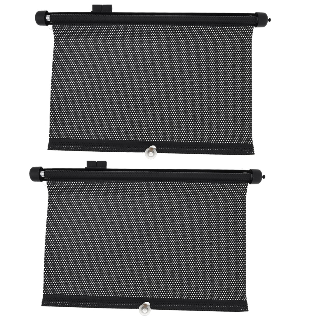2 x Car Auto Rear Window Windshield Black Sun Shade Visor Sunshade 46cm x 35cm