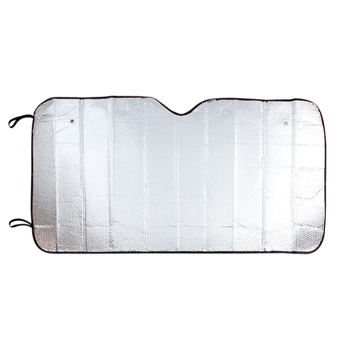 Black Brim Aluminium Foil Exterior Auto Car Front Window Sunshade 130cm x 70cm
