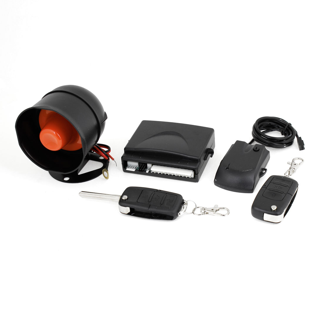 Anti-theft Warning Universal Car Auto Alarm Security System w 2 Keys Remotes