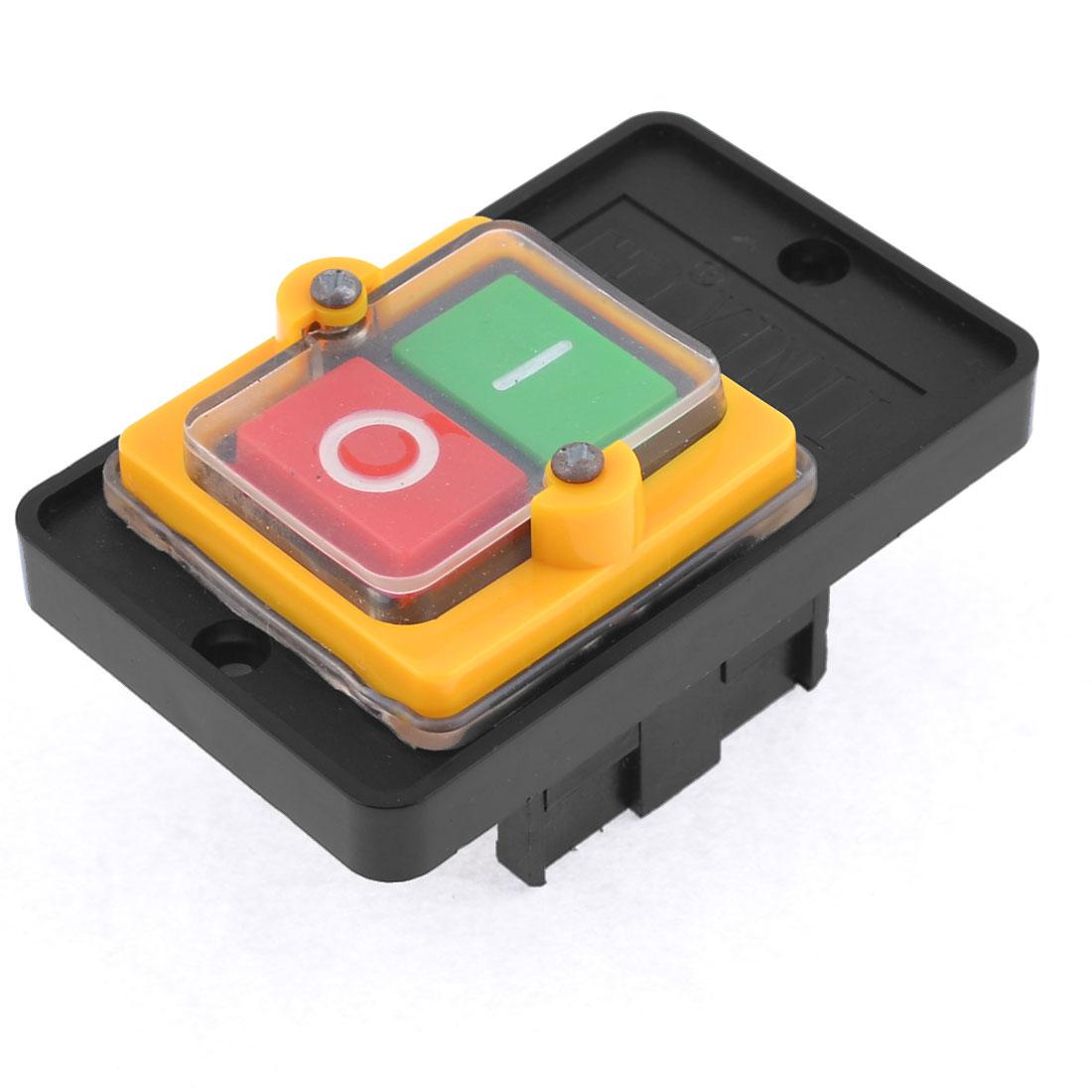 220/380VAC 10A 6 Screw Terminal Latching I/O Pushbutton Switch