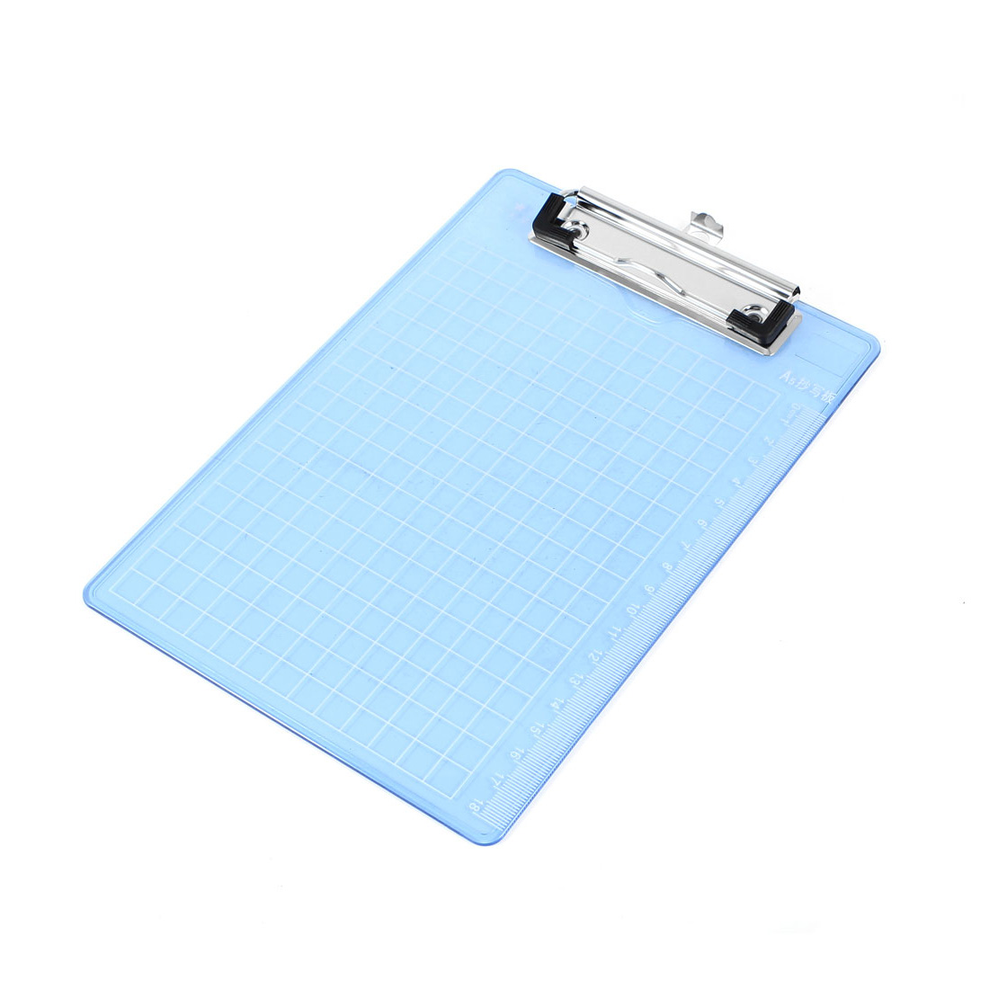 Office A5 Record List Note Paper Clear Blue Clipboard Clip Board