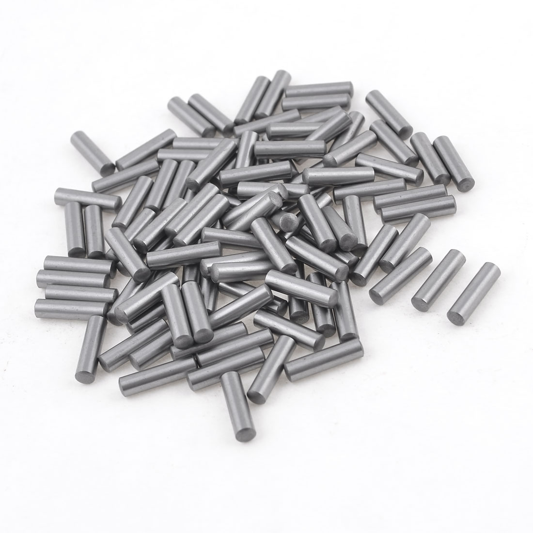 100 Pcs 3.4mm Diameter 15.8mm Length Cylinder Parallel Dowel Pins