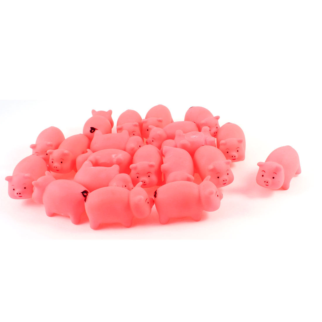 Children Pink Soft Plastic Pig Designed Squeeze Squeak Toy 20 Pcs