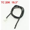 """19.3"""" Long TC 20K 2 Pin Terminals Temperature Sensor Black for Air Conditioner"""