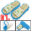 Blue Outsole Flower Pattern Floor Cleaner Mop Slippers Shoes UK 7 for Women
