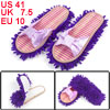 Women Bowtie Decor Floor Cleaning Mop Slippers Shoes EU 41 Purple