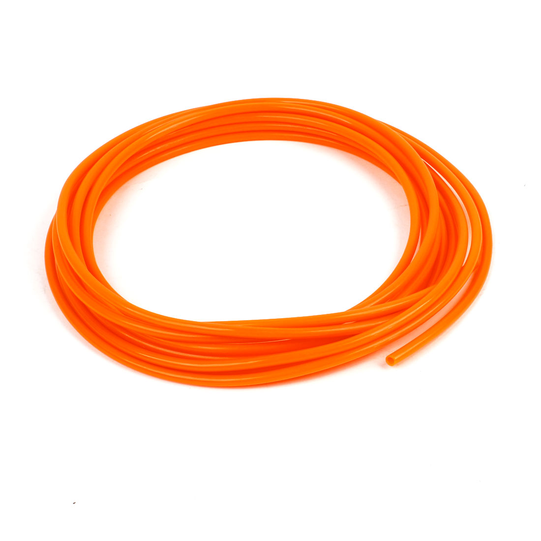 Orange 5 Meters 4mm OD 2.5mm ID 0.75mm Wall Thickness PU Air Hose Pipe