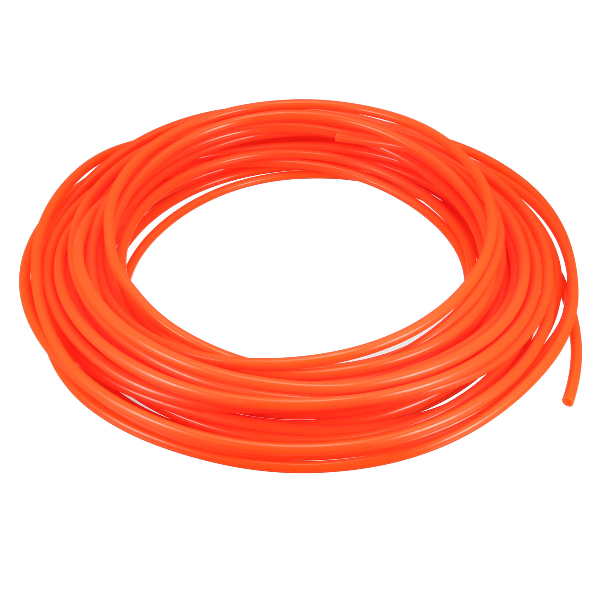 Orange 4mm OD 2.5mm ID 15 Meter Pneumatic PU Air Tube Hose