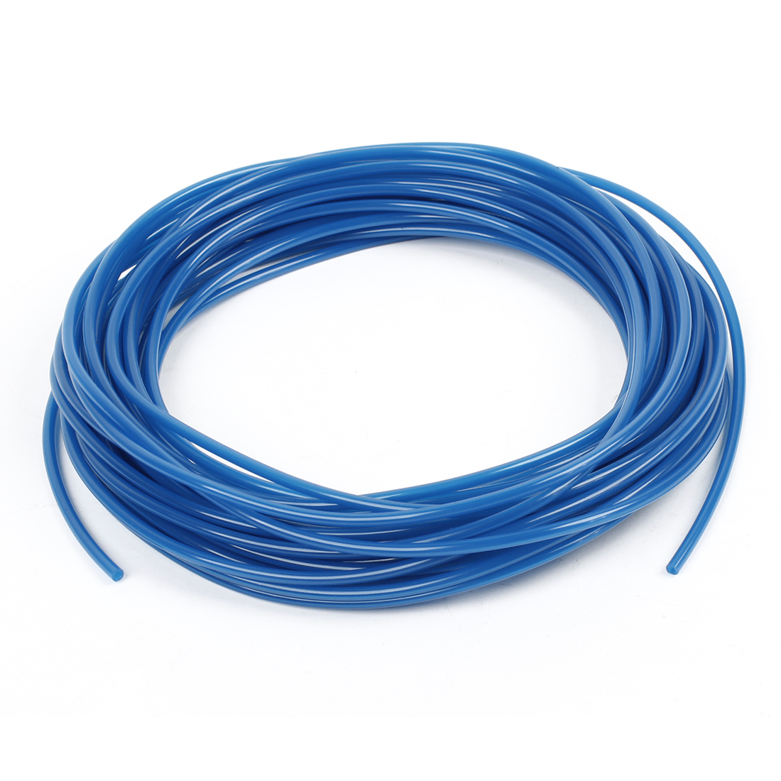 Blue 15 Meters 4mm OD 2.5mm ID 0.75mm Wall Thickness PU Air Hose Pipe