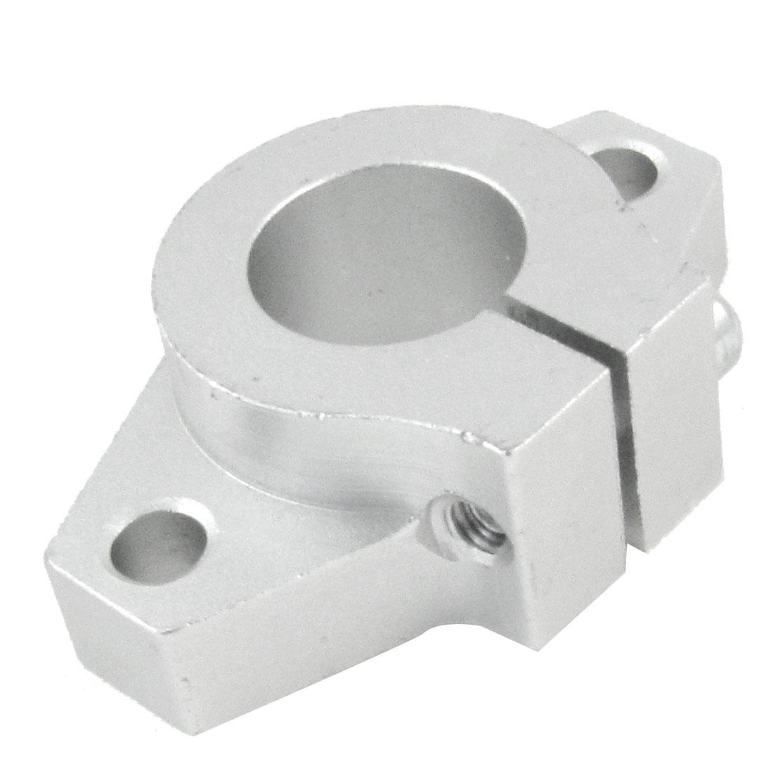 Pillow Shape 16mm Inner Diameter Shaft Support Aluminum Silver Tone