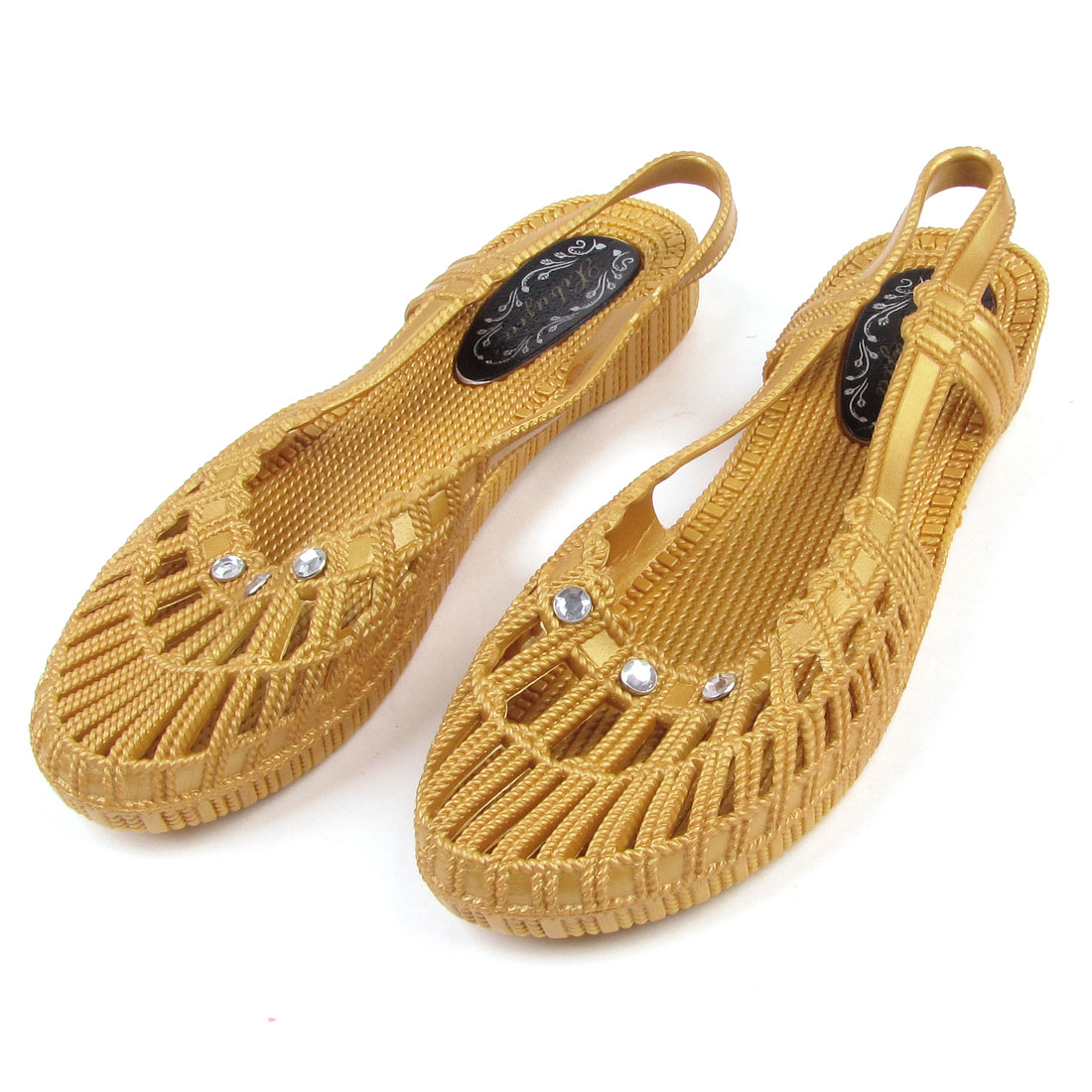 Ladies Light Brown Eva Foam Sandals Nonslip Garden Shoes US 9