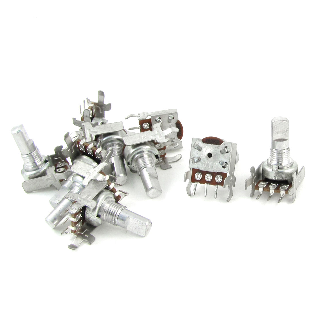 Single Linear Type 3 Terminals Rotary Taper Potentiometer 250K Ohm 10 Pcs