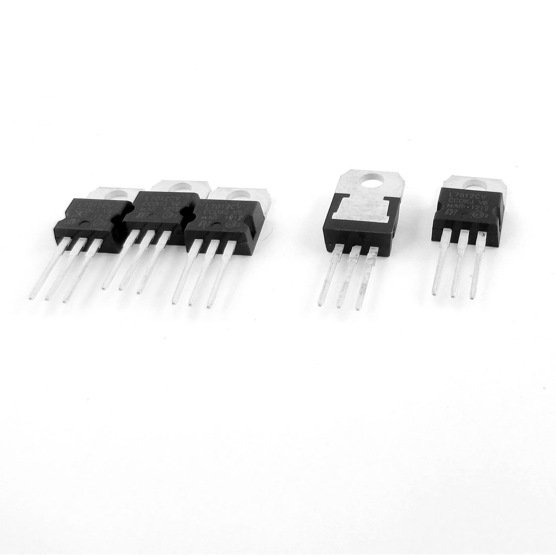 5 Pcs Protective 3 Terminals 1.5A 12V Positive Voltage Regulator L7812CV