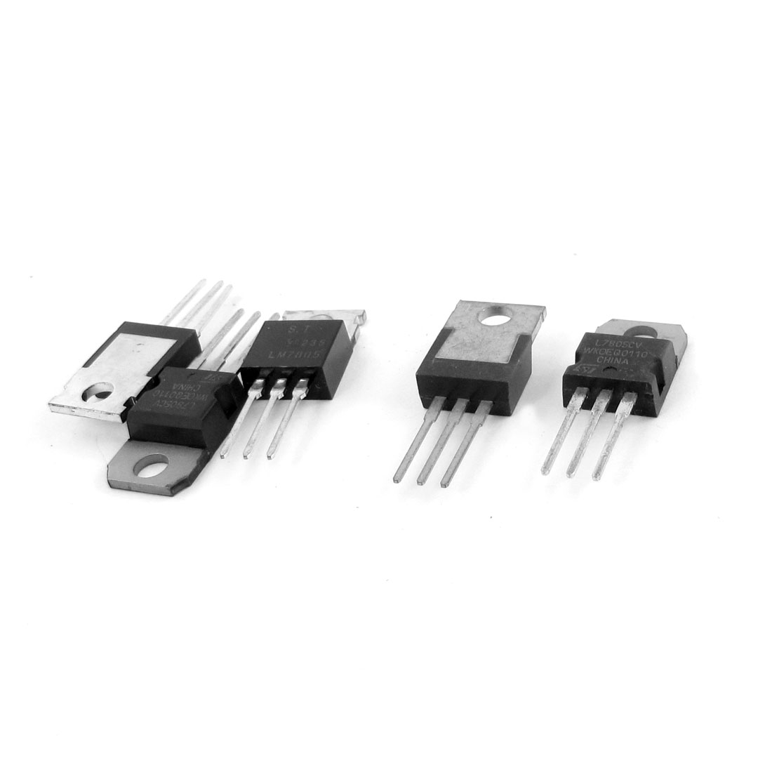 5 Pcs 3 Terminals 1.5A 5V L7805CV Postive Voltage Regulators